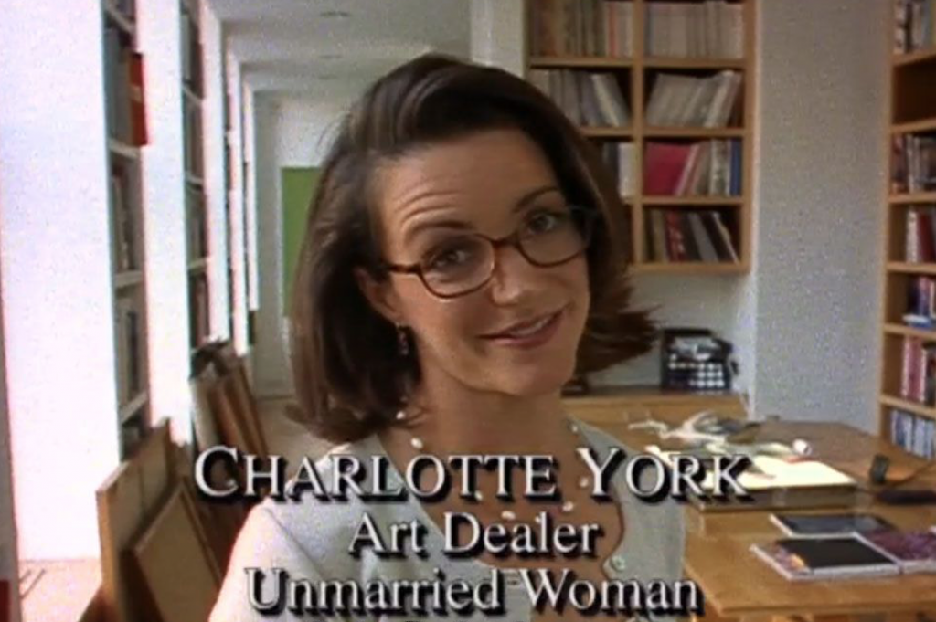 Charlotte gave up her career in the third season of Sex and the City, but we think she might get back in the game. Courtesy of HBO Max.