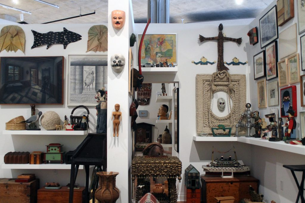 Installation view of Ray Oshida's personal collection at the Art Preserve in Sheboygan, Wisconsin. (Photo by Rain Embuscado.)
